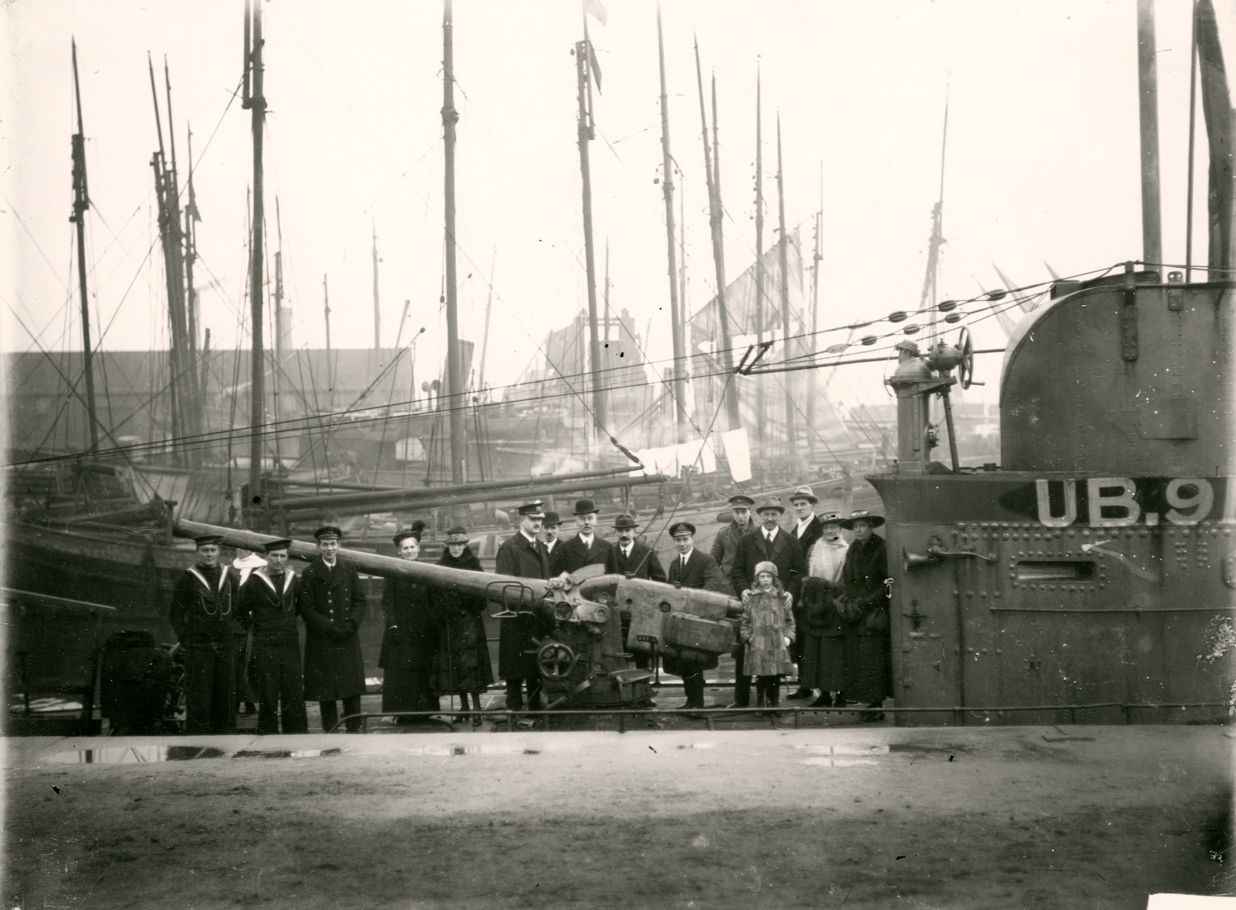 U-Boat in Newport Docks, 1918